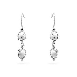 White Gold Pearl Drops - Jewelry Xoxo