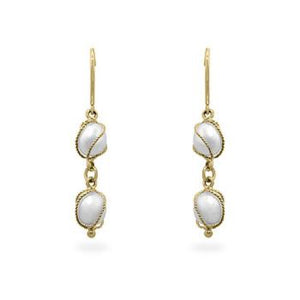 Yellow Gold Pearl Drops - Jewelry Xoxo