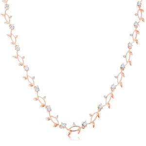Rose Gold Tone Vineyard Necklace - Jewelry Xoxo