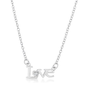 Love Script Necklace - Jewelry Xoxo
