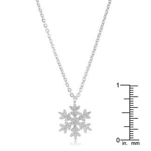 Jenna Stainless Steel Silvertone Snowflake Necklace - Jewelry Xoxo