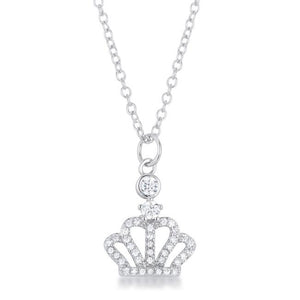 Tabitha 0.5 ct Crown Pendant - Jewelry Xoxo