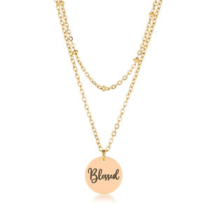 "Delicate 18k Gold Plated ""Blessed"" Necklace - Jewelry Xoxo"
