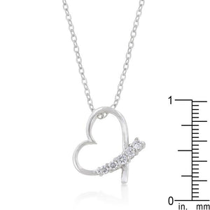 5-Stone Heart Pendant - Jewelry Xoxo