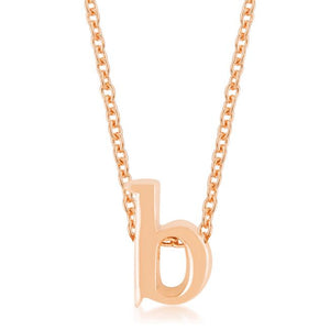 Rose Gold Finish Initial B Pendant - Jewelry Xoxo