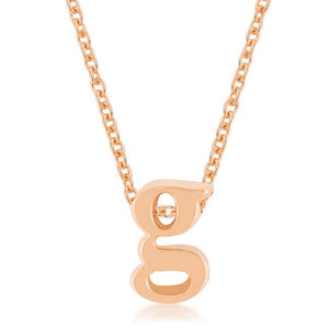 Rose Gold Finish Initial G Pendant - Jewelry Xoxo