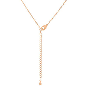 Rose Gold Finish Initial V Pendant - Jewelry Xoxo