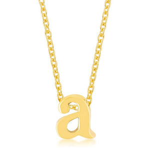 Golden Initial A Pendant - Jewelry Xoxo