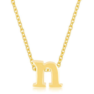Golden Initial N Pendant - Jewelry Xoxo