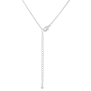 Rhodium Plated Finish Initial U Pendant - Jewelry Xoxo