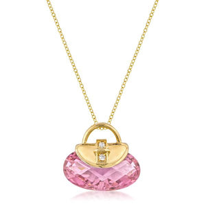 Golden Handbag Pendant - Jewelry Xoxo