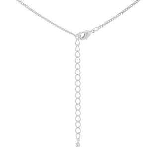 Simple Rhodium Plated Cross Pendant - Jewelry Xoxo