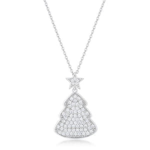 Clear Christmas Tree Drop Necklace - Jewelry Xoxo