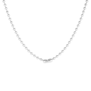 Dreya 1.1ct CZ Rhodium Stainless Steel Necklace - Jewelry Xoxo