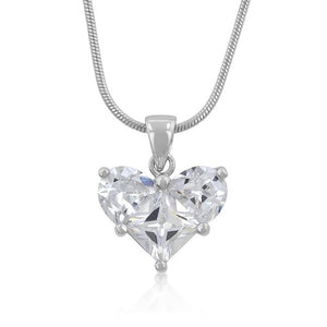 Classic Clear Heart Pendant - Jewelry Xoxo