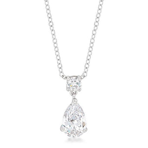 Chandelier Pear Cubic Zirconia Pendant - Jewelry Xoxo