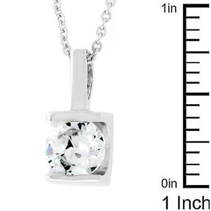 8 mm Zircon Pendant - Jewelry Xoxo