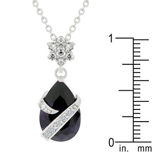 Wrapped Amethyst Purple Cubic Zirconia Pendant - Jewelry Xoxo