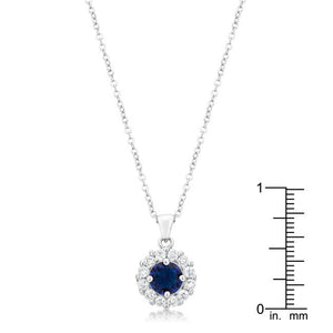 Bella Bridal Pendant in Blue - Jewelry Xoxo