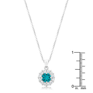 Bella Bridal Pendant in Aqua - Jewelry Xoxo