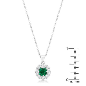 Bella Bridal Pendant in Green - Jewelry Xoxo