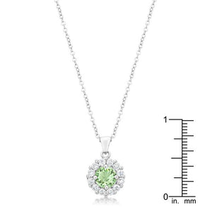 Bella Bridal Pendant in Peridot - Jewelry Xoxo