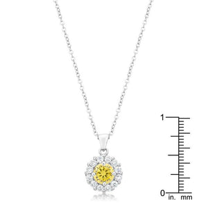 Bella Bridal Pendant in Yellow - Jewelry Xoxo