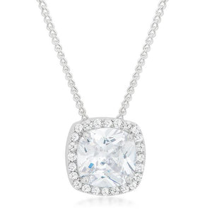 Pave Halo Pendant - Jewelry Xoxo