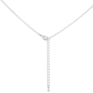 Halo Graduated Cubic Zirconia Pendant - Jewelry Xoxo