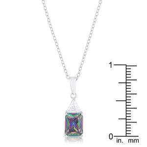 Classic Mystic Cubic Zirconia Sterling Silver Drop Necklace - Jewelry Xoxo