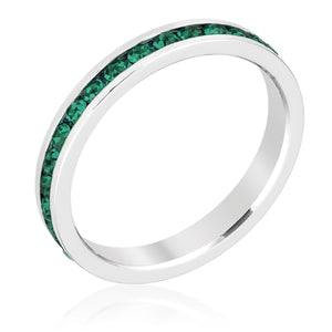 Stylish Stackables Emerald Crystal Ring - Jewelry Xoxo