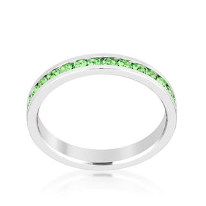 Stylish Stackables Peridot Crystal Ring - Jewelry Xoxo