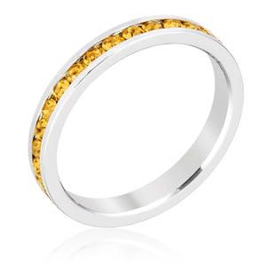 Stylish Stackables with Yellow Crystal Ring - Jewelry Xoxo
