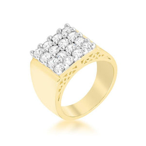 Pave Square Mens Ring - Jewelry Xoxo