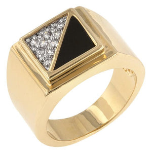 Gemini Cubic Zirconia Mens Ring - Jewelry Xoxo