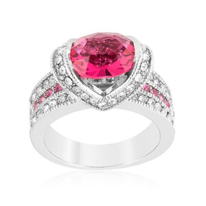 Ovaline Pink Ring - Jewelry Xoxo