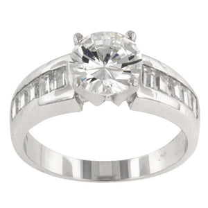Antoinette Silver Engagement Ring - Jewelry Xoxo