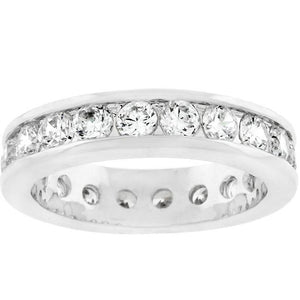Lustrous Eternity Band - Jewelry Xoxo