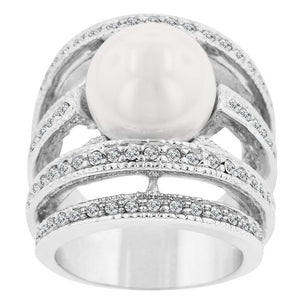 Right-Hand Pearl Ring - Jewelry Xoxo