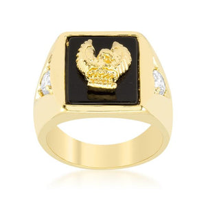 Golden Eagle Mens Ring - Jewelry Xoxo