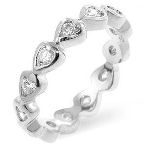 Heart Eternity Ring - Jewelry Xoxo