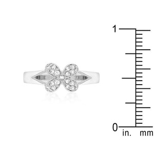 Simple Flower CZ Ring - Jewelry Xoxo