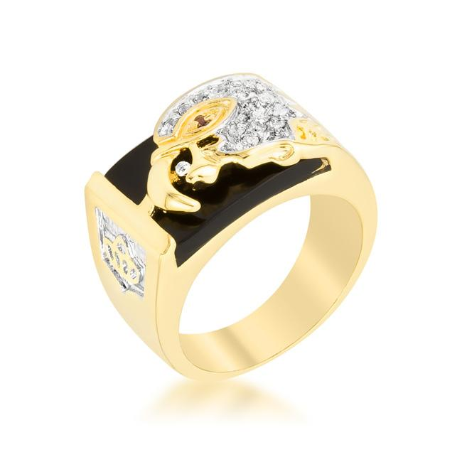 Cubic Zirconia Eagle Mens Ring