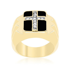 Faceted Cross Cubic Zirconia Ring - Jewelry Xoxo