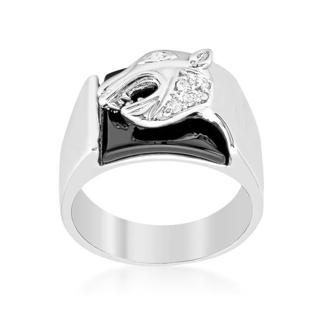 Onyx Panther Mens Ring