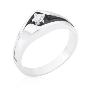 Two-Tone Sleek Mens Ring - Jewelry Xoxo