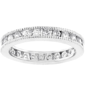 Classic Milgrain Eternity Band - Jewelry Xoxo