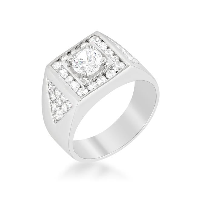 Brilliant Mens Cubic Zirconia Ring - Jewelry Xoxo
