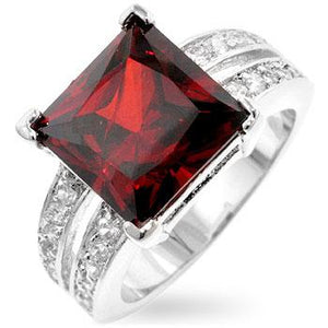 Garnet Princess Ring - Jewelry Xoxo