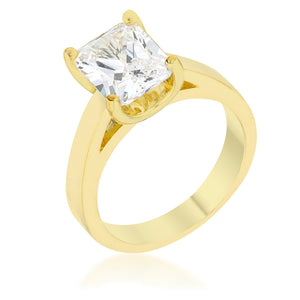 Cubic Zirconia Radiant Solitaire Ring - Jewelry Xoxo
